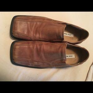 Steve Madden Camel Leather Slip-on 11M